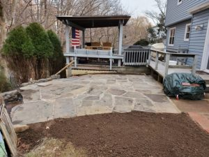 Patio installation
